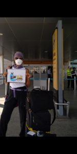 Taxis seguros para los turistas que van a sus viajes humanitarios a cualquier aeropuerto del país, con todas las medidas de Bioseguridad.